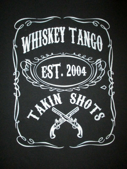 WHISKEY TANGO CONCERT T SHIRT Taking Shots Label Logo Pistol 2004 Band Adult XL