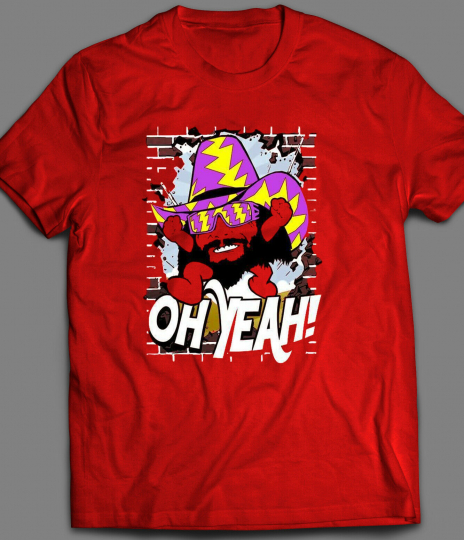 WWE WRESTLING LEGEND RANDY MACHO MAN KOOL AID MASH UP T-SHIRT