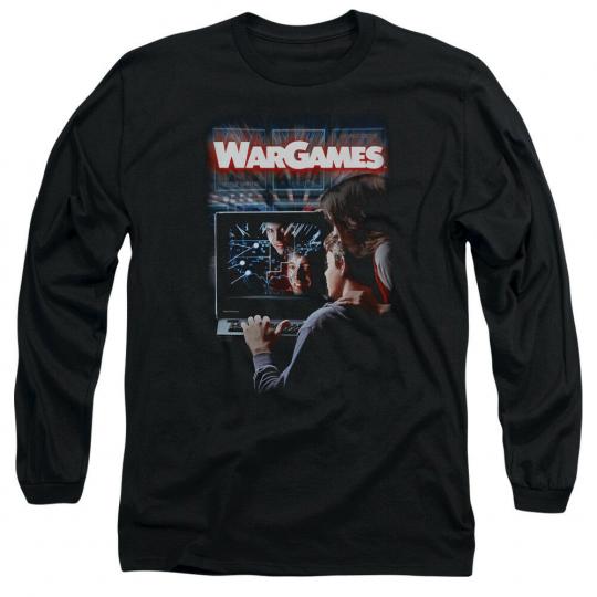 WarGames Classic Movie POSTER Matthew Broderick Long Sleeve T-Shirt S-3XL