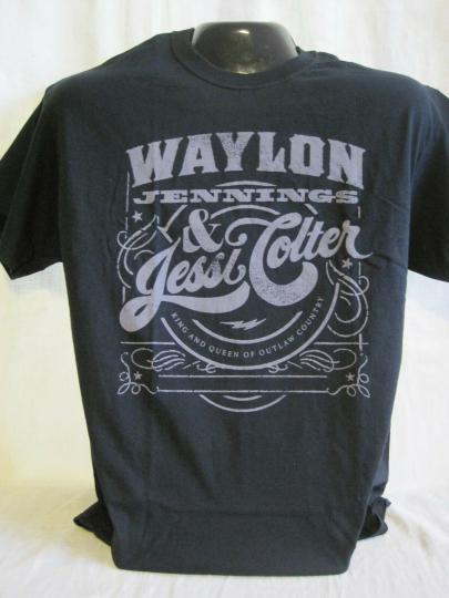 Waylon Jennings T-Shirt Jessi Colter Country Texas Longhorns Music Band New 72