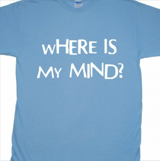 'Where Is My Mind?' T-Shirt inspired by The Pixies (Black Francis, grunge)