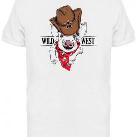Wild West Pig Graphic Tee Men's -Image by Shutterstock