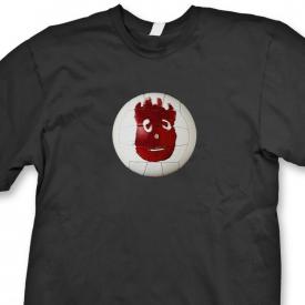 Wilson Volleyball Tom Hanks T-shirt movie Tee Castaway Tee Shirt