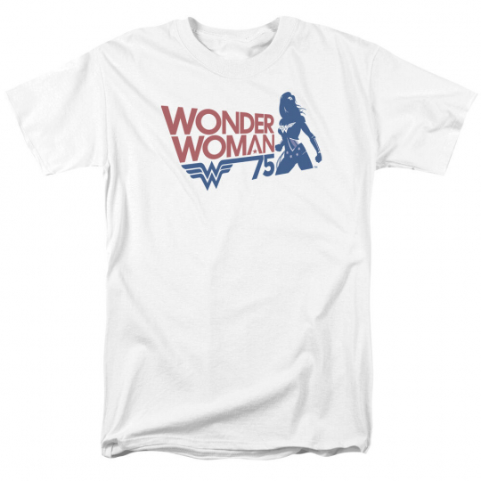 Wonder Woman WW75 SILHOUETTE 75 Years Adult T-Shirt All Sizes