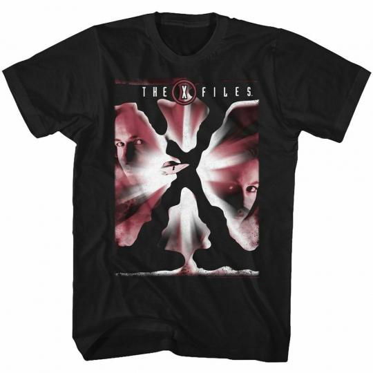 X-Files Redx Black Adult T-Shirt