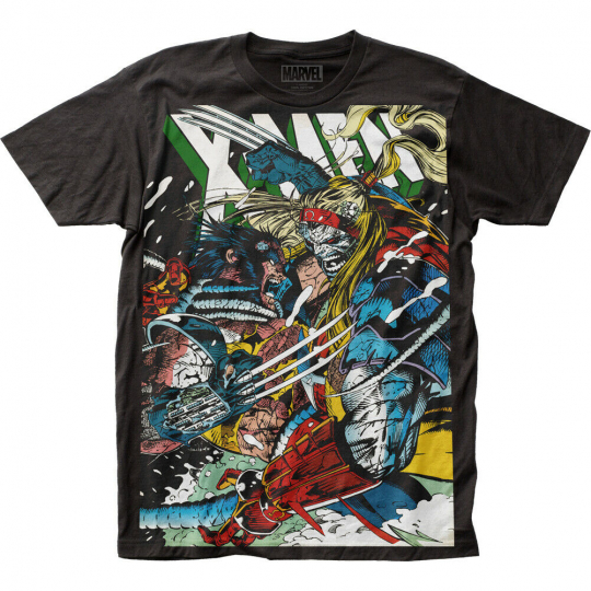 X-Men Wolverine vs Omega Subway T-Shirt