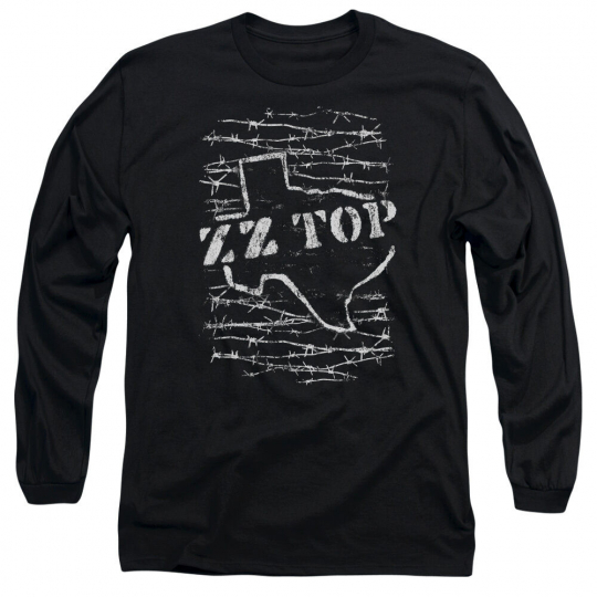 ZZ TOP BARBED Licensed Adult Men's Long Sleeve Graphic Band Tee Shirt SM-3XL
