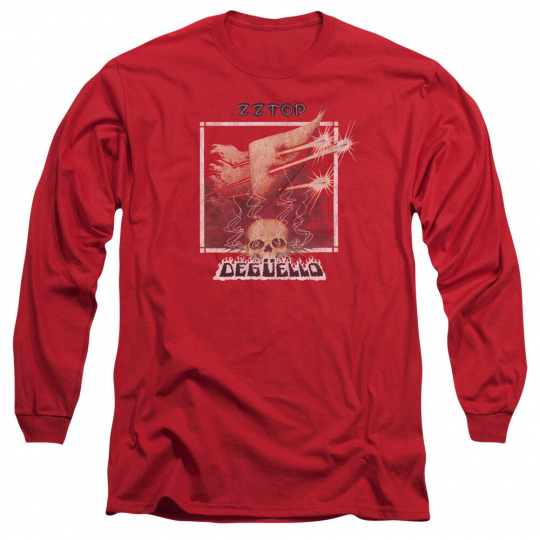 ZZ TOP DEGUELLO COVER Licensed Adult Men's Long Sleeve Band Tee Shirt SM-3XL