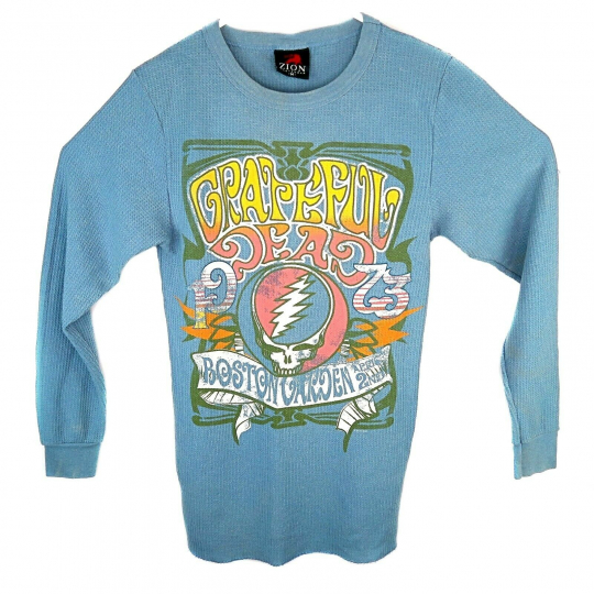 Zion Rootswear Mens M Grateful Dead Boston Garden April 2nd 1973 Thermal Shirt