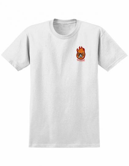 brand New Mens Spitfire X Neckface Broke Off T-Shirt White