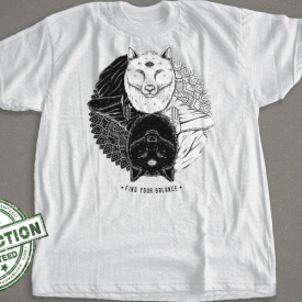 The Aware Wolf | Find Your Balance T-Shirt