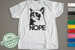 Nope Cats T-Shirt     Grumpy Cat Shirt