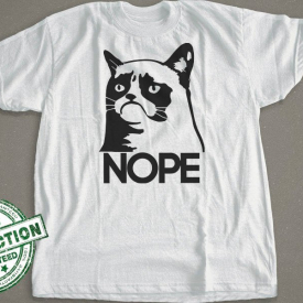 Nope Cats T-Shirt  |  Grumpy Cat Shirt