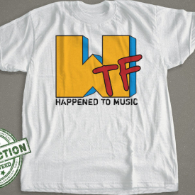 WTF Happened To Music T Shirt | MTV Logo Spoof