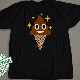 Emoji Poo Ice Cream Cone With Stars