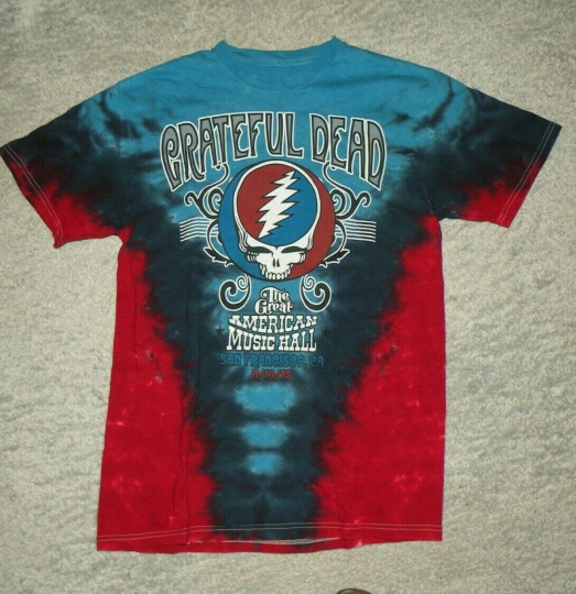 retro Grateful Dead Size M T-Shirt Great American Music Hall 1975 Tie Dye